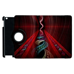 Artistic Blue Gold Red Apple Ipad 3/4 Flip 360 Case by Mariart
