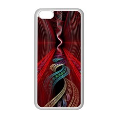 Artistic Blue Gold Red Apple Iphone 5c Seamless Case (white) by Mariart