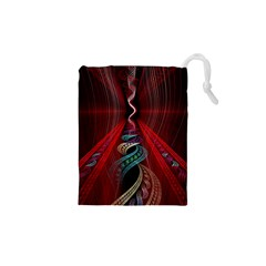 Artistic Blue Gold Red Drawstring Pouches (xs)  by Mariart