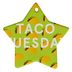 Bread Taco Tuesday Ornament (star) by Mariart