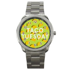 Bread Taco Tuesday Sport Metal Watch by Mariart