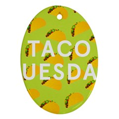 Bread Taco Tuesday Oval Ornament (two Sides) by Mariart