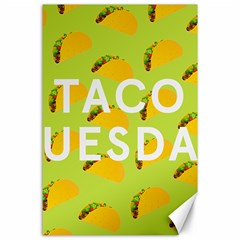 Bread Taco Tuesday Canvas 24  X 36  by Mariart