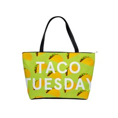 Bread Taco Tuesday Shoulder Handbags by Mariart