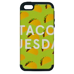 Bread Taco Tuesday Apple Iphone 5 Hardshell Case (pc+silicone) by Mariart
