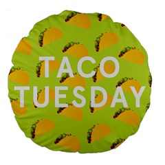 Bread Taco Tuesday Large 18  Premium Flano Round Cushions by Mariart