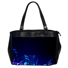 Abstract Musical Notes Purple Blue Office Handbags
