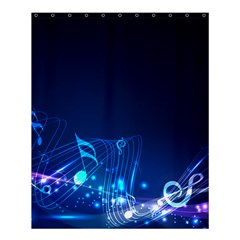 Abstract Musical Notes Purple Blue Shower Curtain 60  X 72  (medium)  by Mariart