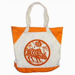 Chinese Zodiac Cow Star Orange Accent Tote Bag by Mariart