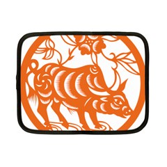 Chinese Zodiac Cow Star Orange Netbook Case (small)  by Mariart