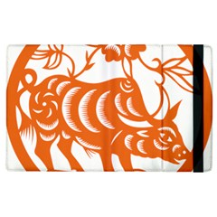 Chinese Zodiac Cow Star Orange Apple Ipad 2 Flip Case by Mariart