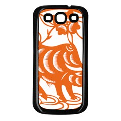Chinese Zodiac Cow Star Orange Samsung Galaxy S3 Back Case (black) by Mariart