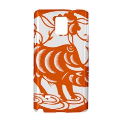 Chinese Zodiac Cow Star Orange Samsung Galaxy Note 4 Hardshell Case by Mariart