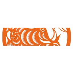 Chinese Zodiac Cow Star Orange Satin Scarf (oblong) by Mariart