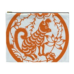 Chinese Zodiac Dog Star Orange Cosmetic Bag (xl) by Mariart