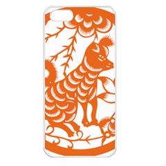 Chinese Zodiac Dog Star Orange Apple Iphone 5 Seamless Case (white) by Mariart