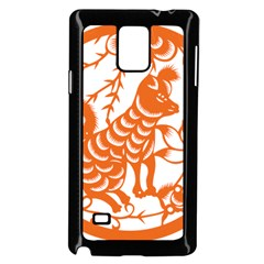 Chinese Zodiac Dog Star Orange Samsung Galaxy Note 4 Case (black) by Mariart