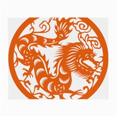Chinese Zodiac Dragon Star Orange Small Glasses Cloth by Mariart