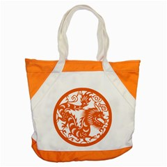 Chinese Zodiac Dragon Star Orange Accent Tote Bag by Mariart