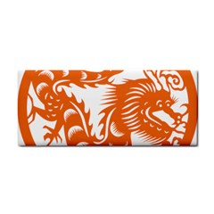 Chinese Zodiac Dragon Star Orange Cosmetic Storage Cases by Mariart