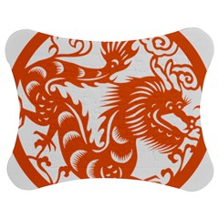 Chinese Zodiac Dragon Star Orange Jigsaw Puzzle Photo Stand (bow) by Mariart