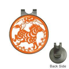 Chinese Zodiac Horoscope Horse Zhorse Star Orangeicon Hat Clips With Golf Markers by Mariart