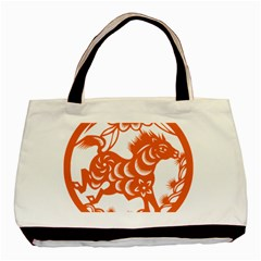 Chinese Zodiac Horoscope Horse Zhorse Star Orangeicon Basic Tote Bag by Mariart