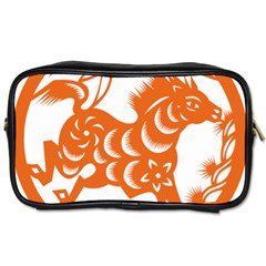 Chinese Zodiac Horoscope Horse Zhorse Star Orangeicon Toiletries Bags by Mariart
