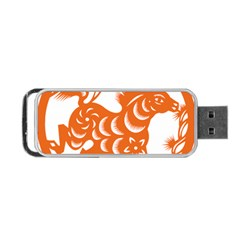 Chinese Zodiac Horoscope Horse Zhorse Star Orangeicon Portable Usb Flash (two Sides) by Mariart