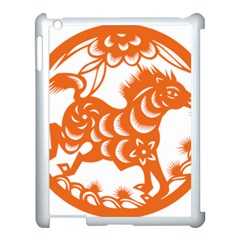 Chinese Zodiac Horoscope Horse Zhorse Star Orangeicon Apple Ipad 3/4 Case (white) by Mariart