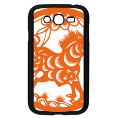 Chinese Zodiac Horoscope Horse Zhorse Star Orangeicon Samsung Galaxy Grand Duos I9082 Case (black) by Mariart