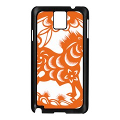 Chinese Zodiac Horoscope Horse Zhorse Star Orangeicon Samsung Galaxy Note 3 N9005 Case (black) by Mariart