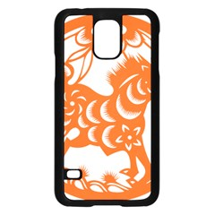 Chinese Zodiac Horoscope Horse Zhorse Star Orangeicon Samsung Galaxy S5 Case (black) by Mariart