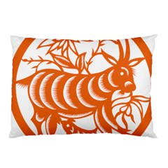 Chinese Zodiac Goat Star Orange Pillow Case by Mariart