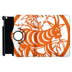 Chinese Zodiac Goat Star Orange Apple Ipad 2 Flip 360 Case by Mariart