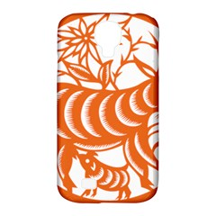 Chinese Zodiac Goat Star Orange Samsung Galaxy S4 Classic Hardshell Case (pc+silicone) by Mariart