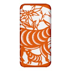 Chinese Zodiac Goat Star Orange Apple Iphone 5c Hardshell Case by Mariart