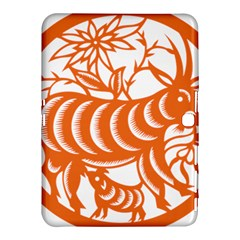 Chinese Zodiac Goat Star Orange Samsung Galaxy Tab 4 (10 1 ) Hardshell Case  by Mariart