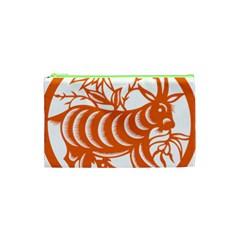 Chinese Zodiac Goat Star Orange Cosmetic Bag (xs) by Mariart