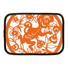 Chinese Zodiac Horoscope Monkey Star Orange Netbook Case (medium)  by Mariart