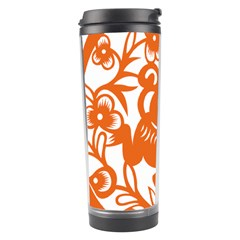 Chinese Zodiac Horoscope Monkey Star Orange Travel Tumbler by Mariart