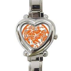 Chinese Zodiac Horoscope Pig Star Orange Heart Italian Charm Watch by Mariart