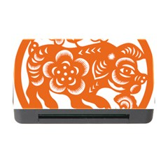 Chinese Zodiac Horoscope Pig Star Orange Memory Card Reader With Cf by Mariart