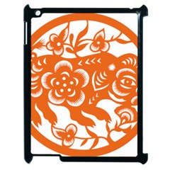 Chinese Zodiac Horoscope Pig Star Orange Apple Ipad 2 Case (black) by Mariart