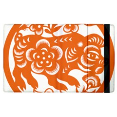 Chinese Zodiac Horoscope Pig Star Orange Apple Ipad 3/4 Flip Case by Mariart