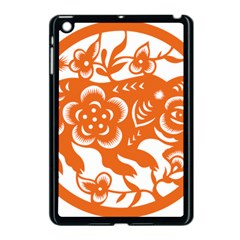 Chinese Zodiac Horoscope Pig Star Orange Apple Ipad Mini Case (black) by Mariart