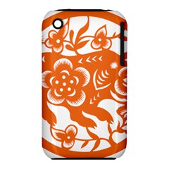 Chinese Zodiac Horoscope Pig Star Orange Iphone 3s/3gs by Mariart