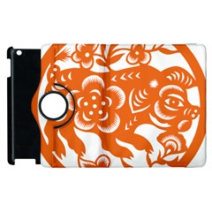 Chinese Zodiac Horoscope Pig Star Orange Apple Ipad 3/4 Flip 360 Case by Mariart