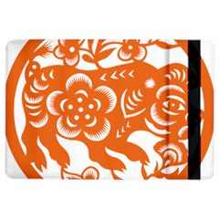 Chinese Zodiac Horoscope Pig Star Orange Ipad Air 2 Flip by Mariart