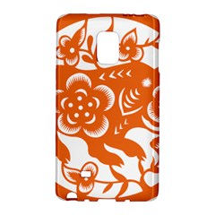 Chinese Zodiac Horoscope Pig Star Orange Galaxy Note Edge by Mariart